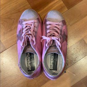 Golden goose pink sneakers